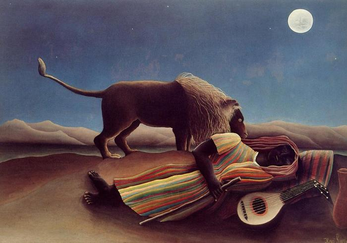 Rousseau's Sleeping Gypsy 1897